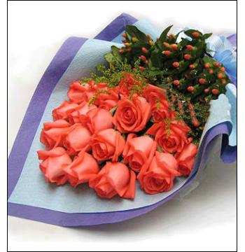 12 Orange Roses Bouquet