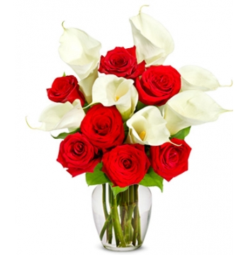 Red Rose & Calla Lily Bouquet Premium Send to Manila Philippines