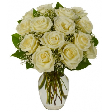 White Roses Bouquet Send to Manila Philippines