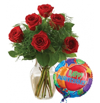 Premium Half Dozen Red Roses Anniversary Send to Manila Philippines