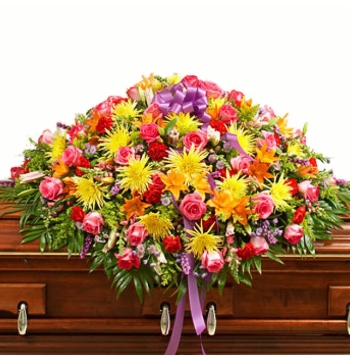 Cheerful Bliss Casket Spray Send to Manila Philippines
