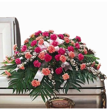 Colorful Carnation Casket Spray Send to Manila Philippines