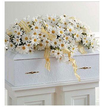 Elegant Daisy Casket Spray Send to Manila Philippines