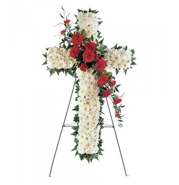 Chrysanthemums and Carnations Cross Send to Manila Philippines