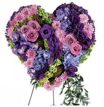 Graceful Tribute-Heart Funeral Flowers Send to Manila Philippines