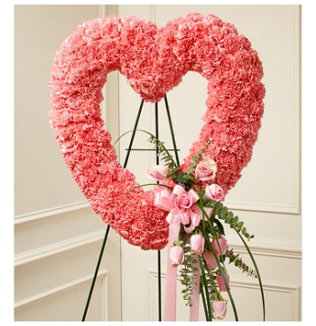 Lavishly Pink Heart Wreath Send to Manila Philippines