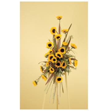 Yellow Sunflowers and Fresh Greens Send to Manila Philippines