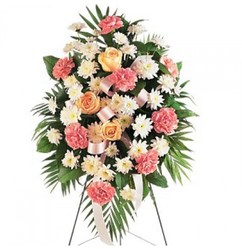 Daisies,Palms,Roses and Spray Chrysanthemums Send to Manila Philippines