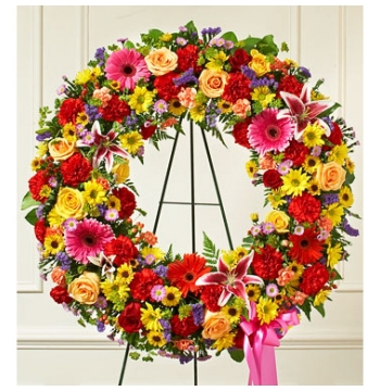 Beautiful Blooms Wreath Send to Manila Philippines