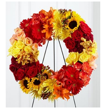 Blazing Blooms Wreath Send to Manila Philippines