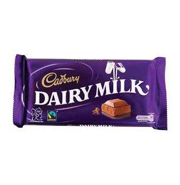Cadbury Dairy Milk Chocolate Bar 1pc Delivery to Manila Philippines