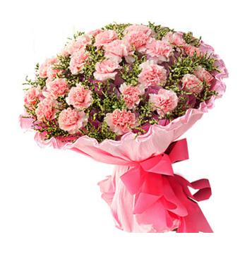 36 Pink Carnations match Greenery Send to Manila Philippines