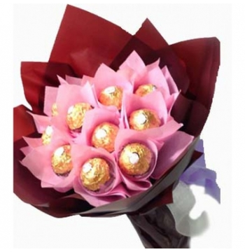 12pcs ferrero in bouquet to manila