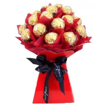12pcs ferrero rocher in bouquet to manila