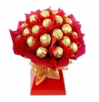 16pcs Ferrero Rocher in a Red Bouquet to Manila