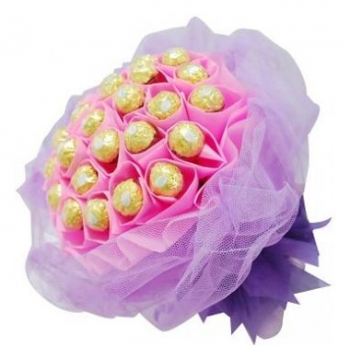 24pcs Ferrero Rocher in a Pink Bouquet to Manila