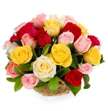 beautiful rose basket send to manila philippines