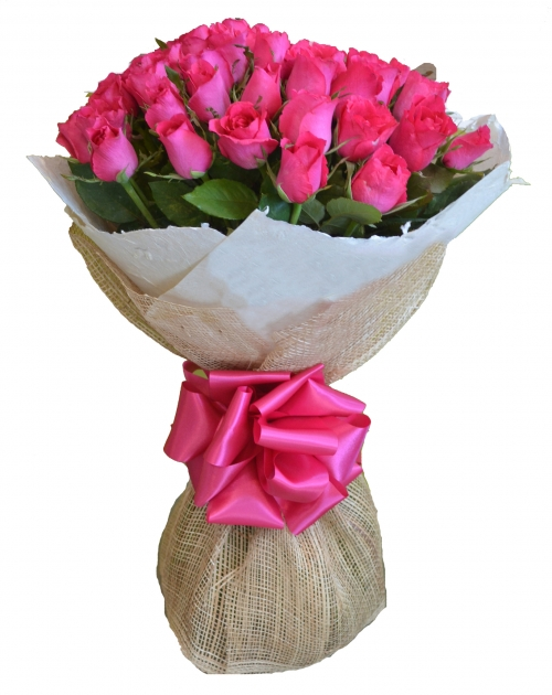24 pink rose bouquet to philippines