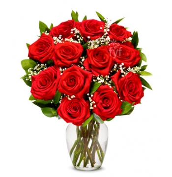 One Dozen Long Stemmed Red Roses Send to Manila Philippines