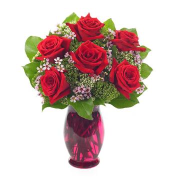 Rose Garden Vase Send to Manila Philippines
