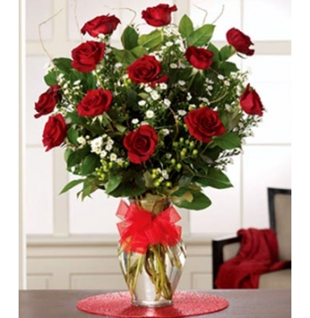 The Dazzling Dozen Red Roses Send to Manila Philippines