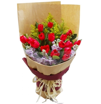 12 Red Tulips Send to Manila Philippines