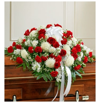Red,White and Green Flowers Send to Manila Philippines
