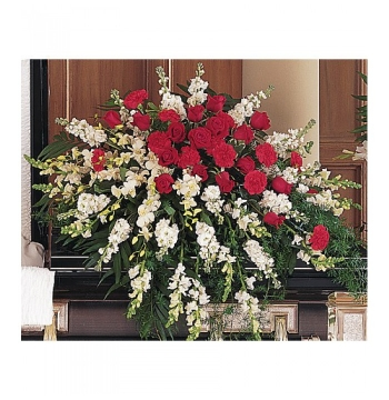 Snap Dragons,Orchids,Red Roses and Greenery Send to Manila Philippines