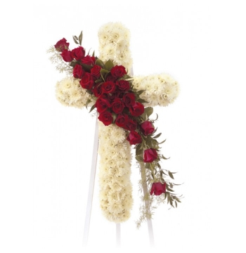 Standing Cross Sympathy Spray Send to Manila Philippines