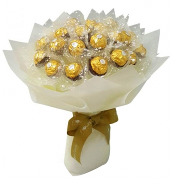 Ferrero White Bouquet Send to Manila Philippines