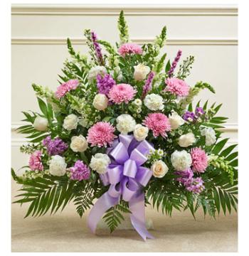 Pink & White Basket Send to Manila Philippines