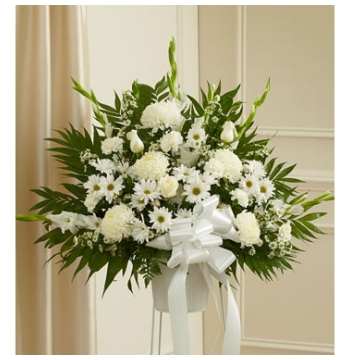 Deepest Sympathies White Flowers Delivery to Manila Philippines