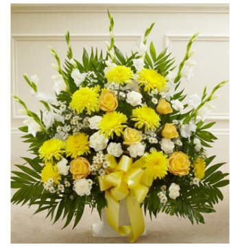 Blazing Basket of Yellow Delivery to Manila Philippines