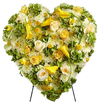 Radiant Shades Heart Flower Wreath Send to Manila Philippines