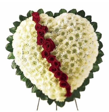 Heart Standing Spray Flowers Send to Manila Philippines