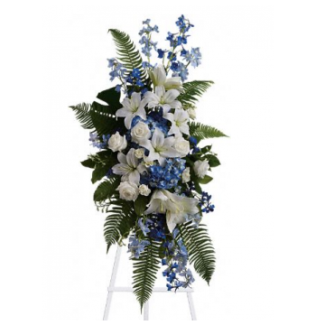 Accents of Blue Standing Spray Send to Manila Philippines