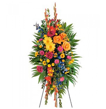 Carnations,Chrysanthemums,Gerberas,Asters,Roses,Gladioli and Palms Send to Manila Philippines