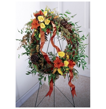 Flourishing Garden Wreath Send to Manila Philippines