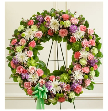 Picturesque Greens Wreath Send to Manila Philippines