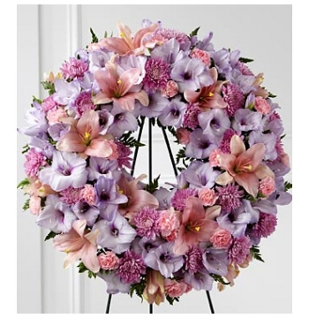 Shades of Lavender Wreath Send to Manila Philippines
