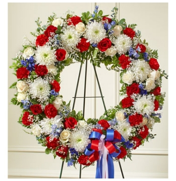 South of The Border Patriotic Funeral Wreath Send to Manila Philippines