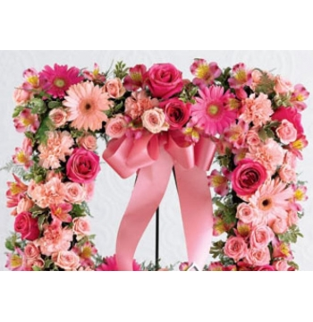 Square Shaped Funaral Wreath Send to Manila Philippines