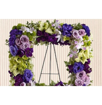 Square Tribute Wreath Arrangement Send to Manila Philippines