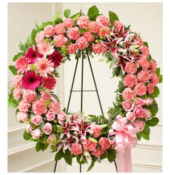 Pink Wreath Send to Manila Philippines