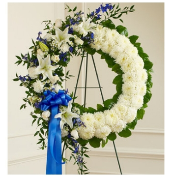 Artistically Designed Wreath Send to Manila Philippines