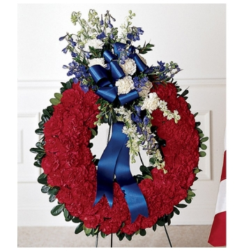 All American Tribute Wreath Send to Manila Philippines