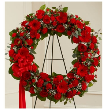 Classic Red Wreath Send to Manila Philippines