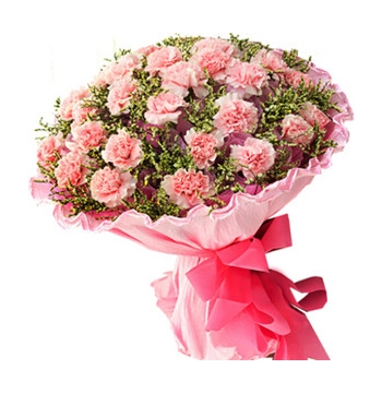 36 Pink Carnations match Greenery Send to Manila Philippines