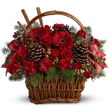 ​Christmas Flowers Basket  Send to Manila