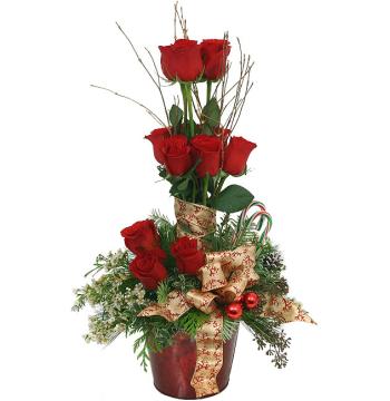 Christmas Rose Topiary Send to Manila